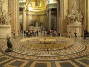 Маятник Фуко в Пантеоне Париж