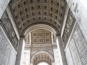 триумфальная арка в париже внутри свода