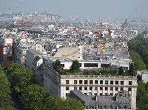 вид с верха триумфальной арки в париже