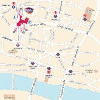 Музей Лондона адрес как добраться карта