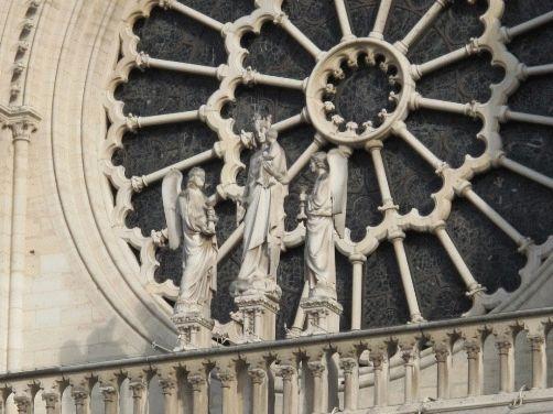 Нотр-Дам Париж, фото фасада - роза