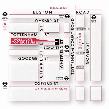 схема проезда до Музея игрушек в Лондоне