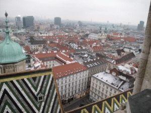 вид на Вену с Южной башни Собора Святого Стефана фото