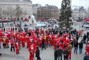 Лондон декабрь события рождественские гимны санта-клаус