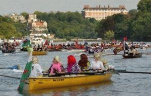 виды лодок принимали участие в Большой речной гонке на Темзе