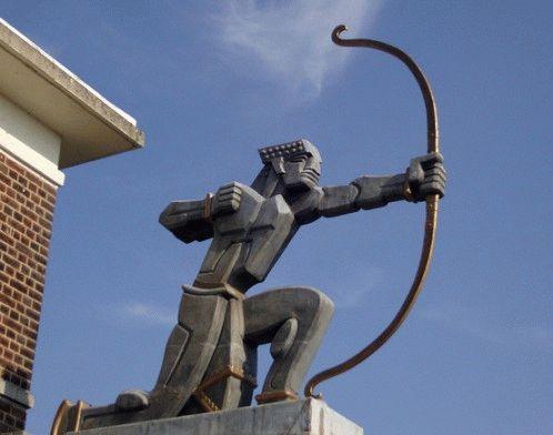 archer Необычная скульптура Лучника теперь считается символом этого района Лондон