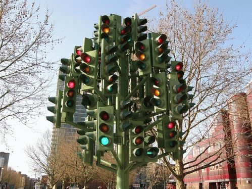 traffic light tree Композиция Светофорное дерево Лондон
