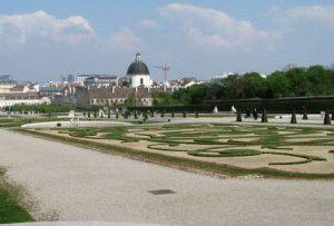 Palais Belvedere погуляйте с ребенком в парке Бельведера фото