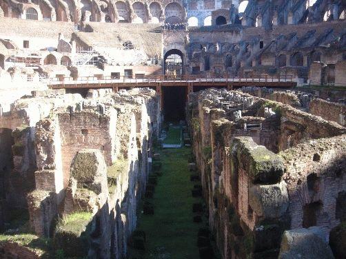 подвальные помещения Колизея