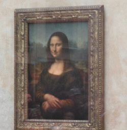 mona lisa Мона Лиза Джоконда  Леонардо да Винчи фото в Лувре
