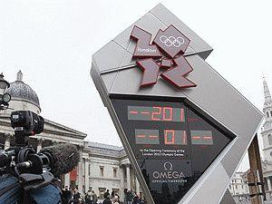 часы отсчитывают время до начала Олимпиады 2012 Лондон фото