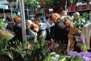 Columbia Road Flower Market цветочный рынок Колумбия Лондон