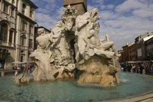 Фонтан Четырёх Рек в Риме фото