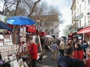 площадь Тертр place du Tertre Монмартр фото