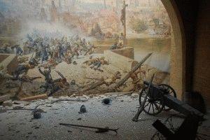 Зеркальный лабиринт в Праге диорама битва фото