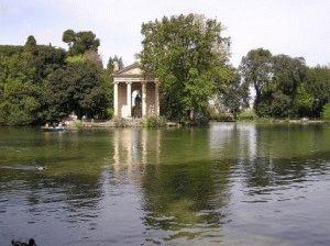 Парк Боргезе в Риме фото