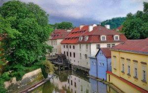 вид на Влтаву Прага фото