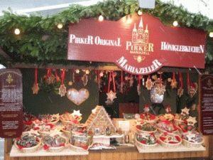 торговая улица Мариахильферштрассе рождественский базар Вена фото