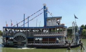 Fiabilandia двухпалубный колёсный пароплав Миссисипи фото