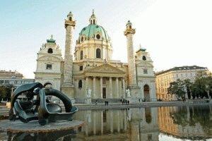 собор Карлскирхе в Вене фото