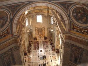внутри собор святого петра фото вид сверху