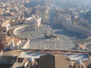 вид с собора святого Петра в Риме фото