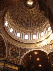 внутри собор святого петра фото купол