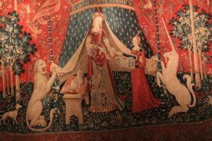 Дама с единорогом гобелен музей Клюни Париж фото