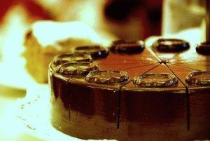 Шоколадный торт  Захер (Sacher) фото