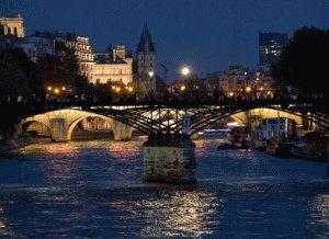 Pont des Arts мост Искусств париж фото