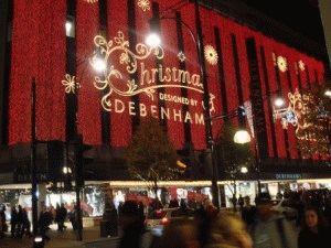 Рождество в Лондоне магазины фото