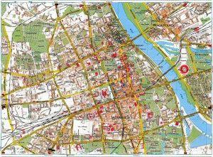 Варшава карта города скачать