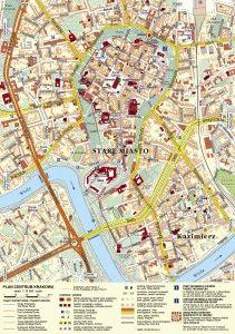 карта Краков центр города скачать