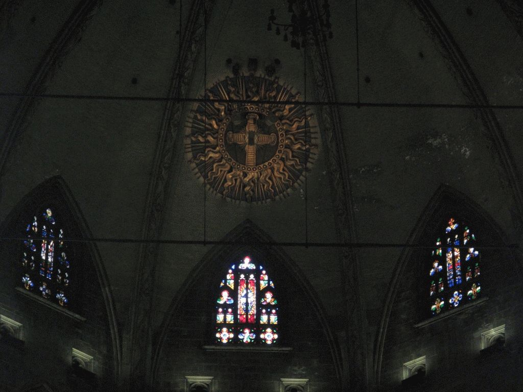 витражи вверху собор дуомо миланский фото