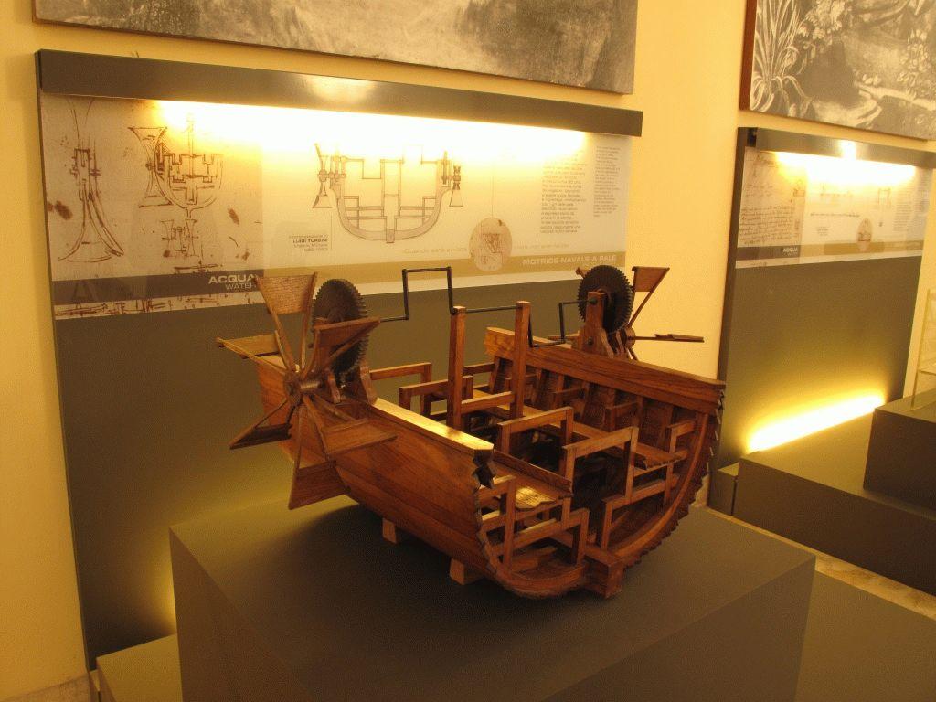 модель корабля Леонардо да Винчи фото