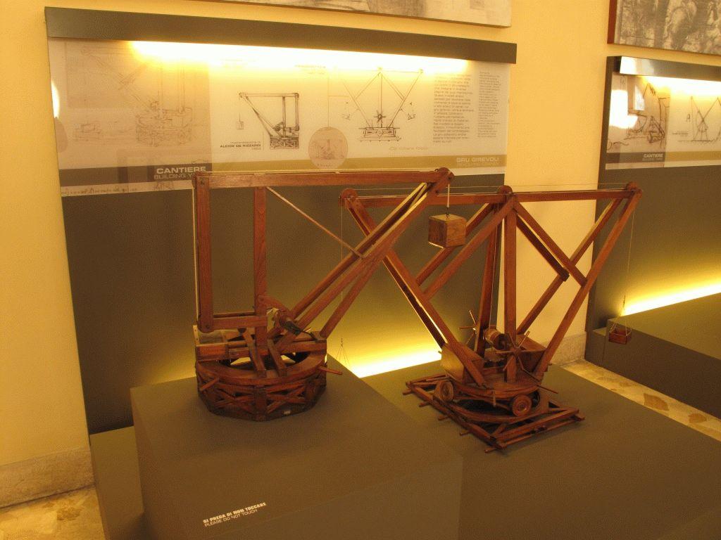 модель в музее Леонардо да Винчи фото