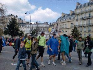 парижский марафон фото