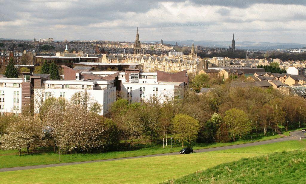 Вид на университетский городок Эдинбурга