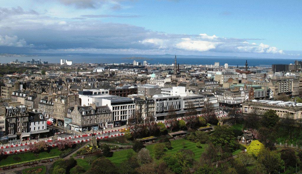Эдинбург фото с замка