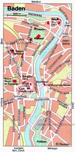 карта Баден Швейцария скачать - нажмите на картинку для увеличения