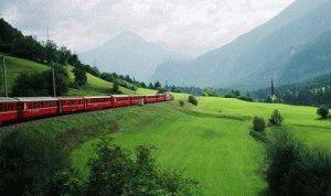 Экспресс Бернина Швейцария фото