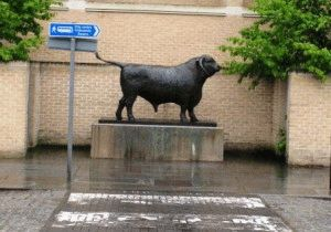 оксфорд статуя бык фото