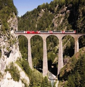 Панорамные поезда Швейцарии и их маршруты фото