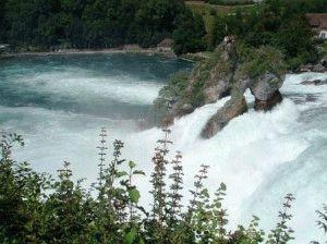Рейнский водопад Швейцария фото