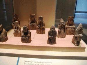 шахматы с острова льюис фото в национальном музее шотландии
