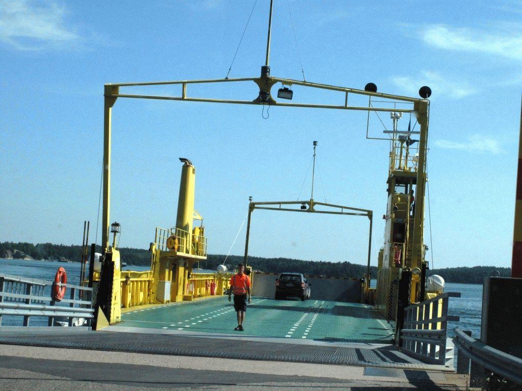 открытый желтый паром ferry фото