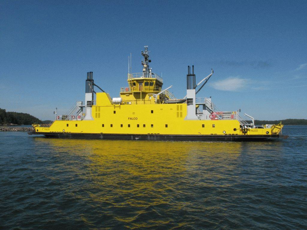 желтый паром острова архипелаг турку фото