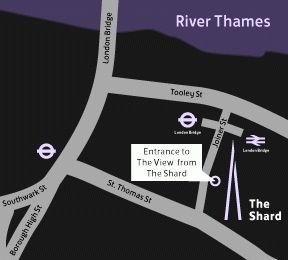 Башня Shard Лондон - как добраться рисунок