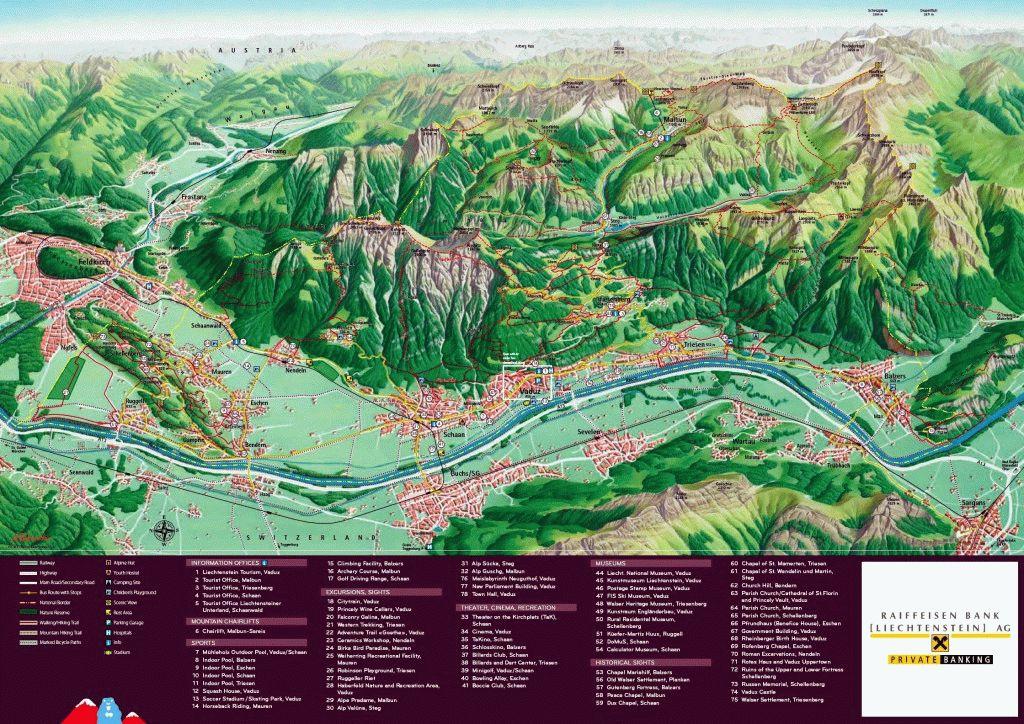 Карта Лихтенштейна скачать