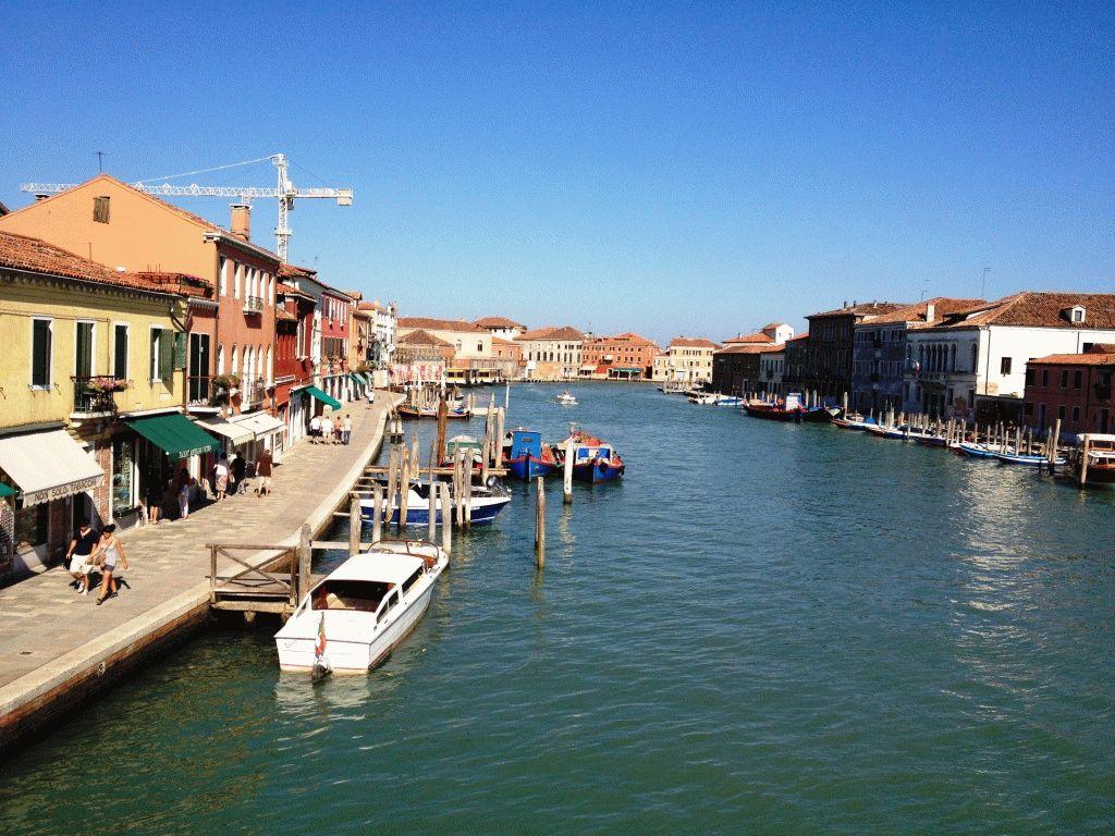 Остров Мурано Венеция Италия канал фото